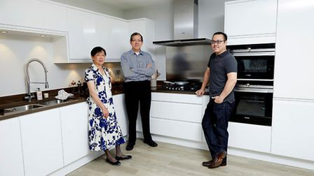 Jun and Yvonne Tan with their son Yok at the Abbey Gardens site