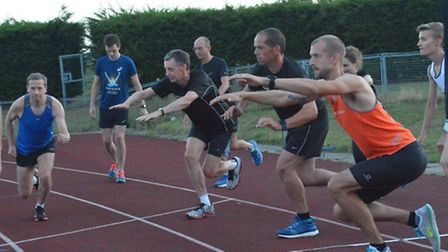 Members of Huntingdon BRJ Run & Tri taking part in their first session of the Club Run Programme.