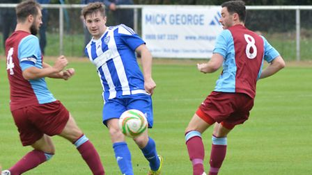 Tom Coles hit a late winner for Eynesbury Rovers.