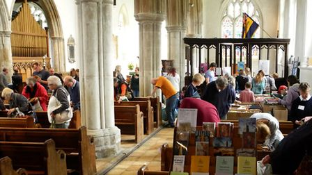 400 people turned out for Ashwell's 17th book fair.