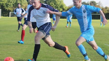Action from Facelad and St Albans Rangers