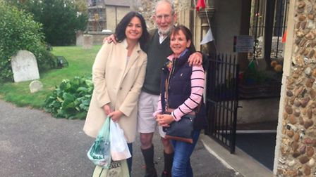 South Cambs MP Heidi Allen, Charles Paget-Wilkes and Lesley Harrison.