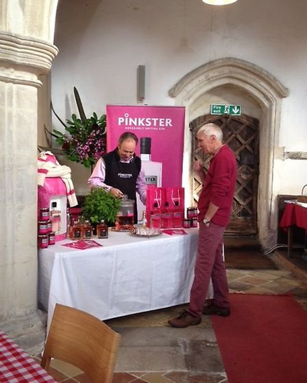 Stephen Marsh at his Pinkster Gin stand.