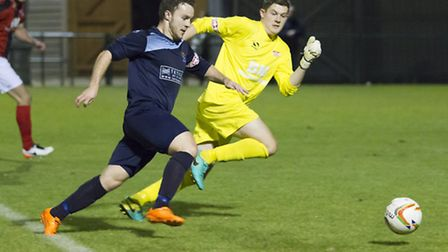 St Neots Town striker Sam Mulready is back against Redditch. Picture: CLAIRE HOWES