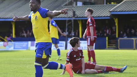 Shaun Lucien scored a hat-trick in the last round of the FA Cup. Picture: BOB WALKLEY