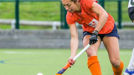 Amie Hone in action against Harleston Magpies. Picture: CHRIS HOBSON