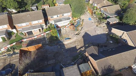 The first anniversary of St Albans' sinkhole is on October 1 2016. There is now little trace of the