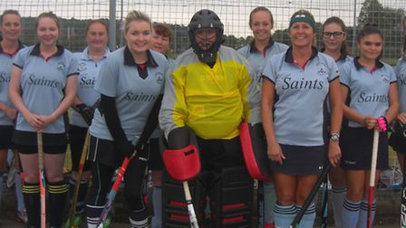 The St Neots Ladies 4ths are, left to right, Andrea Pybus, Lucy Mitchell, Nicola Griffiths, Ami Stan