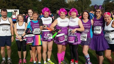 Some of the Huntingdon BRJ Run & Tri runners at the Great Eastern Run in Peterborough on Sunday are,