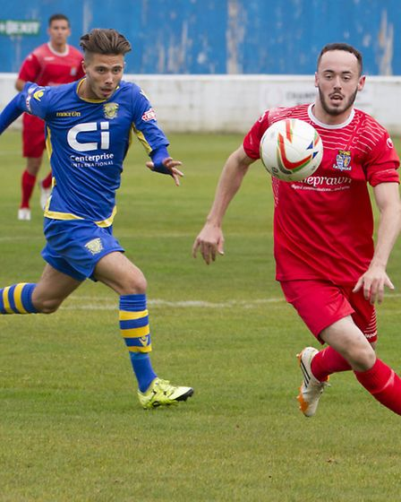 Peter Clark capped a fine performance with a late clincher for St Neots Town. Picture: CLAIRE HOWES