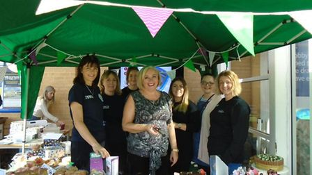 Royston Tesco teamed up with staff from Hotel Chocolat to throw a coffee morning for Macmillan.