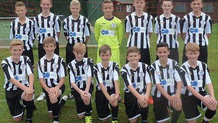 The St Ives Under 13 team are, no order, George Driver, Harry Butcher, Cameron Eakins, Mark Pater, L