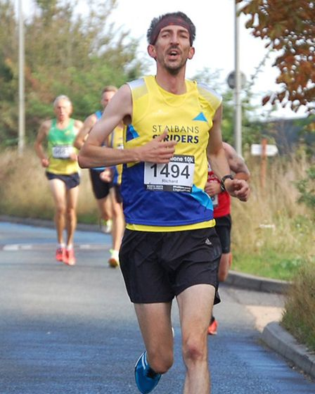 Richard Harry finished the Standalone 10k in Letchworth in 38 minutes15 seconds. Picture: ANDREW HUL