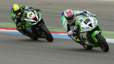 Luke Mossey in action at Assen in round 11 of the MCE British Superbike Championship. Picture: IMPAC