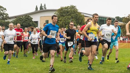 Runners head off from Westminster Lodge during the 2016 St Albans Festival of Sport. Picture: KIERAN