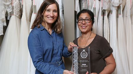 Owner of The Bride Polly Parkin and assistant Rani Grewal recently won the award for Best Retailer C