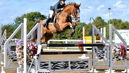 Kerrie Goodwin & Roscoes Golani topped the Dodson & Horrell 1.10m National Amateur Second Round at A