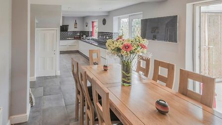 The spacious kitchen/diner is one of the home's main selling points