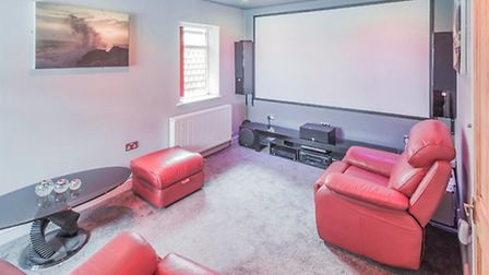 Not many suburban semis have their own cinema room