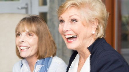 Angela Rippon and Barbara Gray at The Hospice of St Francis