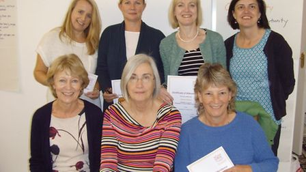 Some of the new Home-Start volunteers with chair, Maureen Brierley and co-ordinator, Jackie Cotton.
