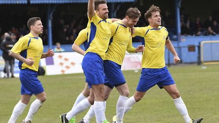 James Kaloczi sealed the win against Dartford on the last day of last season for St Albans City. Pic