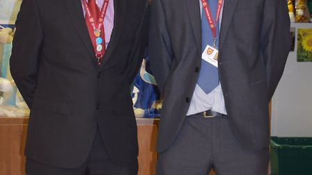 Rob Chambers (Head of Geography) and Ed Slingsby (Head of Science)