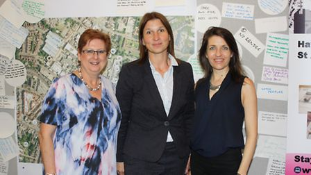 Vanessa Gregory, Angela Koch and Annie Brewster at the Look! St Albans charrette