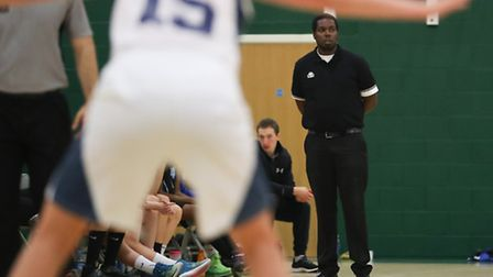 Oaklands Wolves head coach Kenrick Liburd keeps an eye on the action