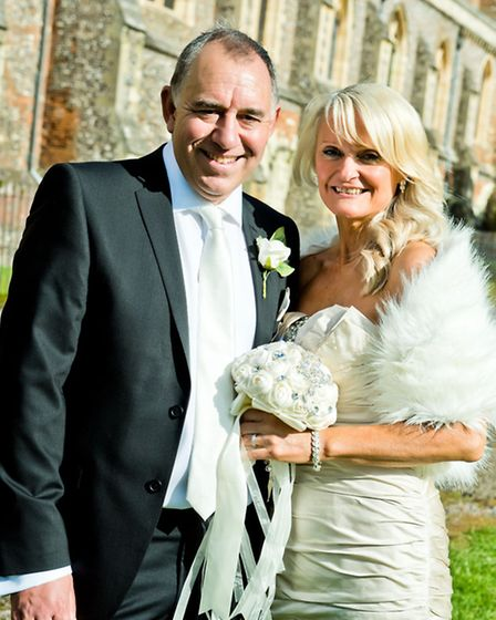 Pam Lidford married Peter Goodman in St Albans. Photo by GK Studios