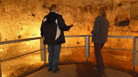 The cave will feature on Channel 4 show Britain's Ancient Tracks with Tony Robinson tomorrow at 8pm.