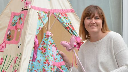 JFTP Business Fairy, at Hartford, owner Jo Guest, with one of her Tepee's