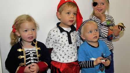Ophelia and Max Alford and Sebastion and Annabelle Port at Pirate Day. Picture: Clive Porter