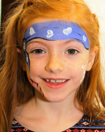 Georgia Pitt had her face painted for Pirate Day. Picture: Clive Porter