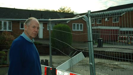 David Walker lives near the sinkhole in Fontmell Close, St Albans. This photo was taken after most o