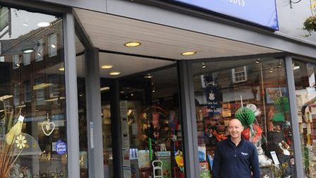 Alan Huckle outside the store earlier this year