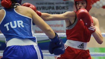 St Ives boxer Shona Whitwell during the European Youth Championships in Turkey.