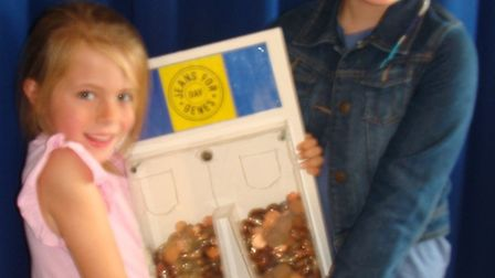 Left to right: Lilly, 7 and Molly, 10, who managed to raise more than £115 between them.