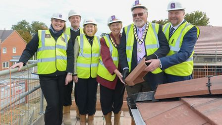 The Topping Out ceremoney at Nelson's Lodge