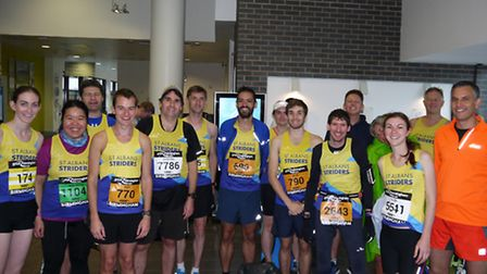 Some of the 30 St Albans Striders who took part in the Great Birmingham Run. Picture: SK AU-YEONG