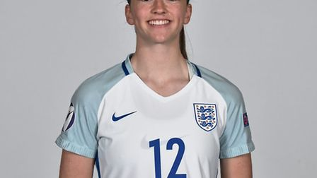 Harpenden's Anna Patten in her England kit. Picture: SPORTSFILE