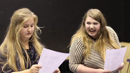 Amy Jordan and Georgia Anderson from last year's CADS auditions in Royston.