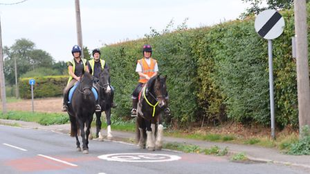 Horse riders have experienced problems on the road between Bassingbourn and Litlington.