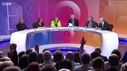 Lisa Duffy, second from left, appeared on Question Time.