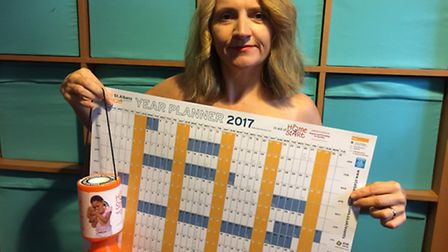St Albans Businesses Facebook group is producing a naked calendar - Sue Wybrow demonstrates...
