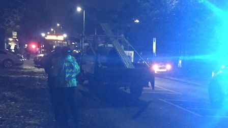Picture credit: @rick_patel - A bus collided with four vehicles in Cunningham Avenue St Albans