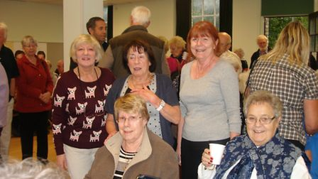 Councillors Vera Swallow, Rita Turner and town clerk Susan Thornton-Bjork with some of the guests at