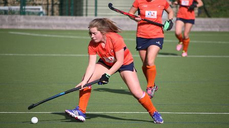 Bethan Davies in action for St Albans against Wimbledon. Picture: KEVIN LINES