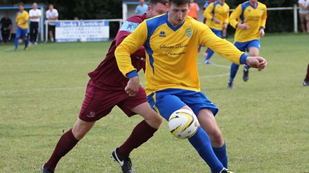 Michael Davies was in fine form against Buckingham Athletic. Picture: DANNY LOO