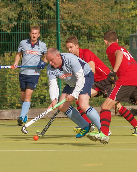 Jamie Cluer was one of the St Neots Men's 1sts goalscorers in their win against Wisbech 2nds. Pictur